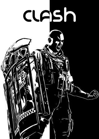 Clash R6 Siege B&W design by r6siegecenter