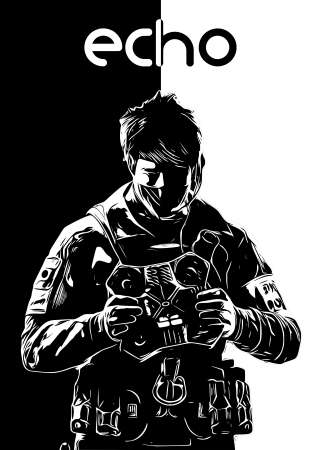 Echo R6 Siege operator B&W design by r6siegecenter