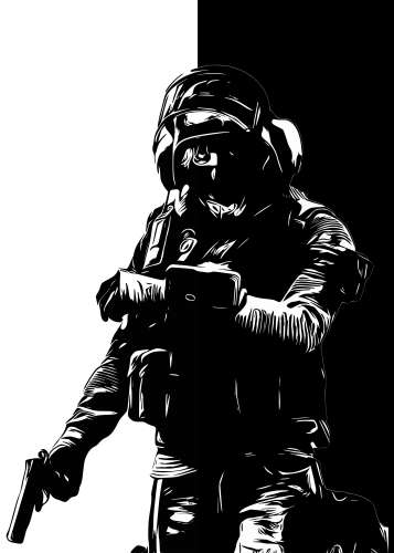 IQ R6 B&W art r6siegecenter